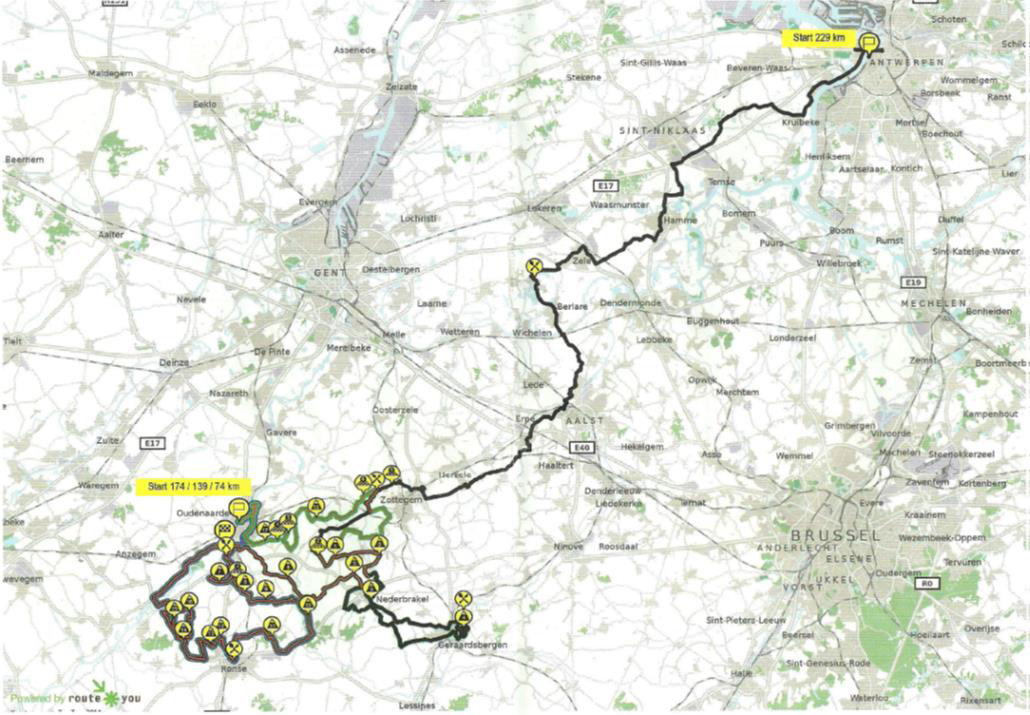 tour des flandres carte